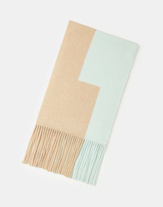 Two-Tone Cashmere Long Scarf