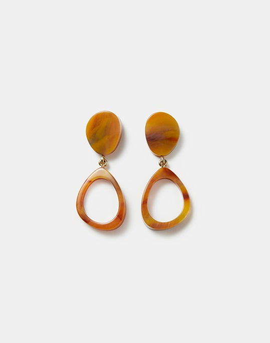Marbled Irregular Circle Earring