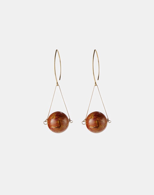 Marbled Drop Circle Earring