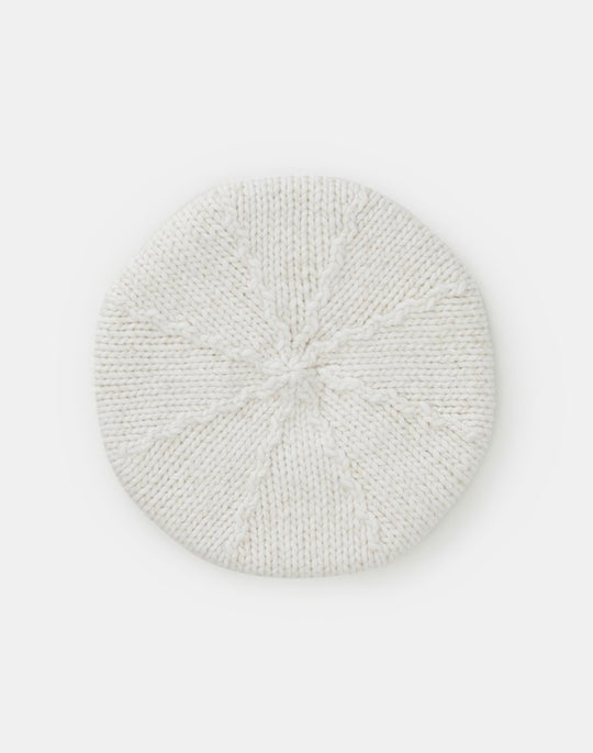 Lofty Italian Wool Chine Hand-Knit Beret