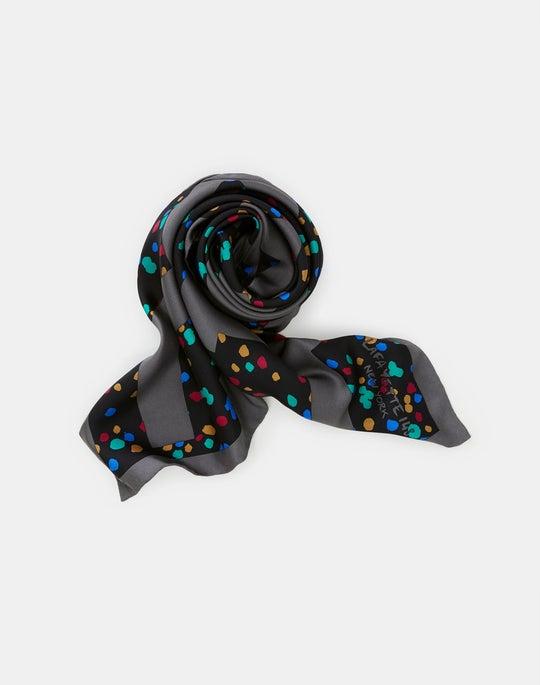 Speckled Chevron Icon Silk Scarf
