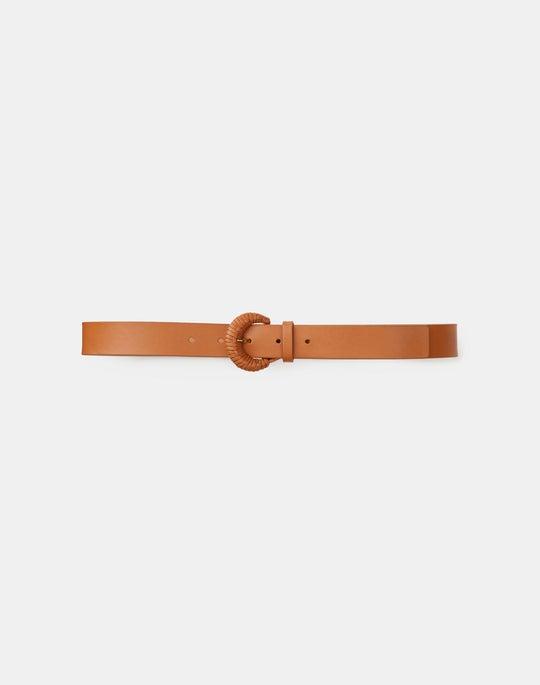 Italian Nappa Leather Skinny Belt
