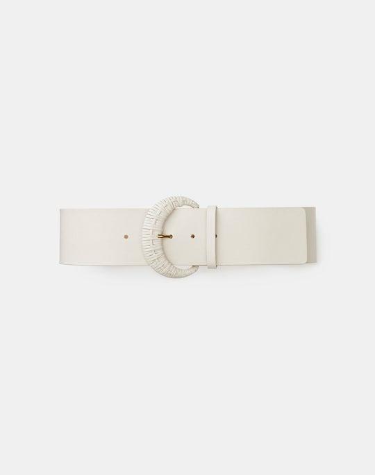 Italian Nappa Leather Wide Belt