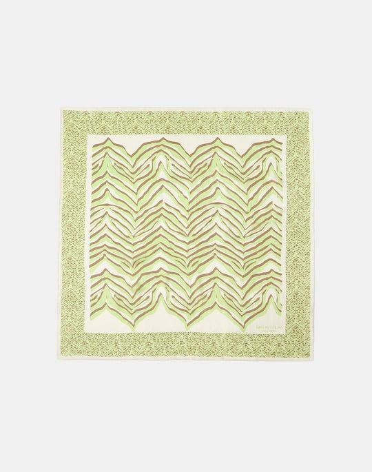 Silk Dimensional Zebra Print Scarf