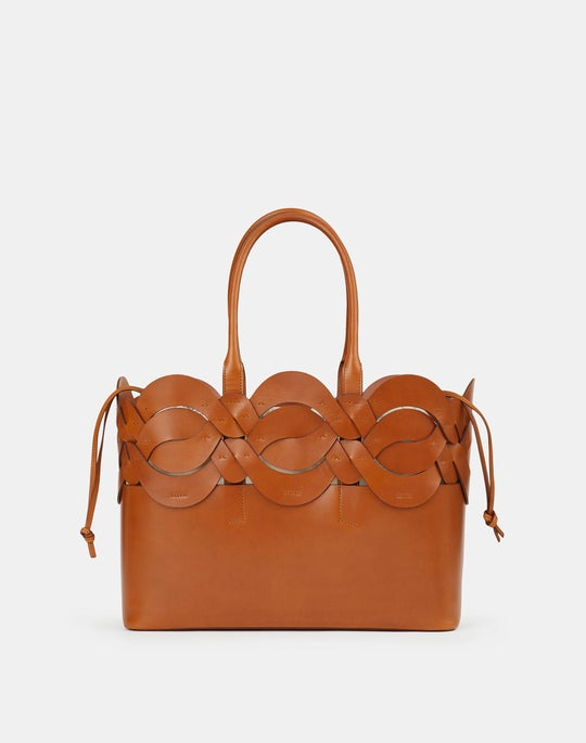 Italian Leather 8 Knot Tote