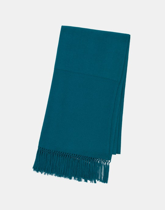 Cotton Crepe Knotted Fringe Scarf