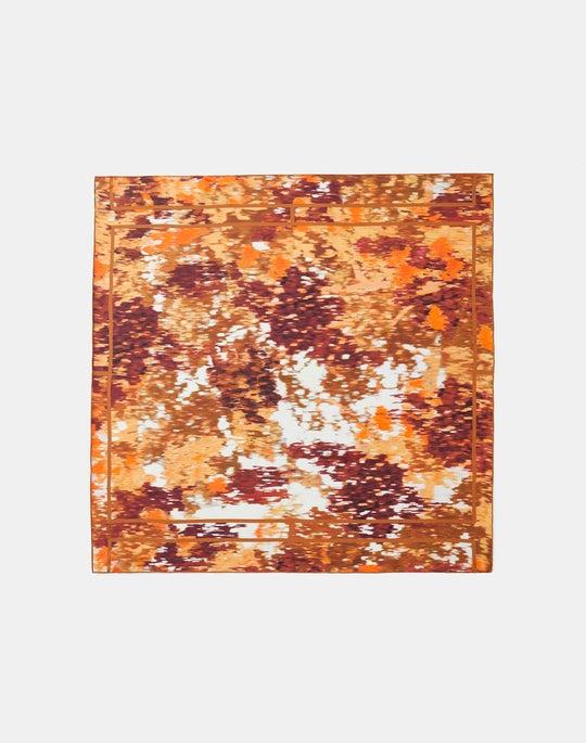 Autumn Haze Print Silk Scarf