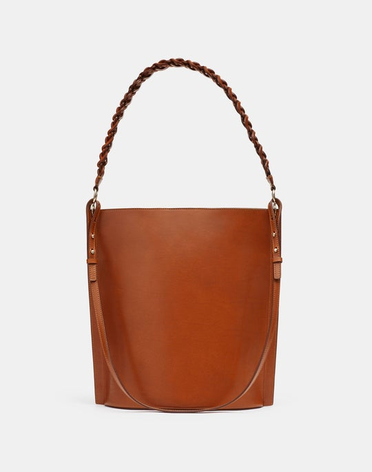 The 8 Knot Day Bag In Italian Vachetta Leather—Large