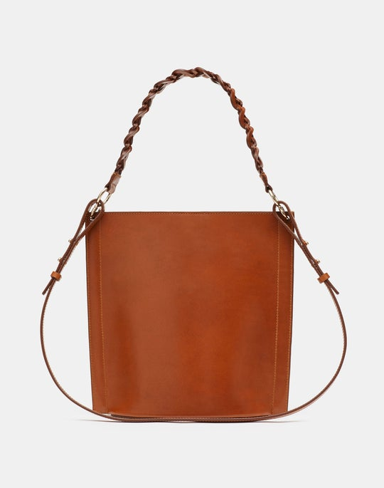 The 8 Knot Day Bag In Italian Vachetta Leather — Small