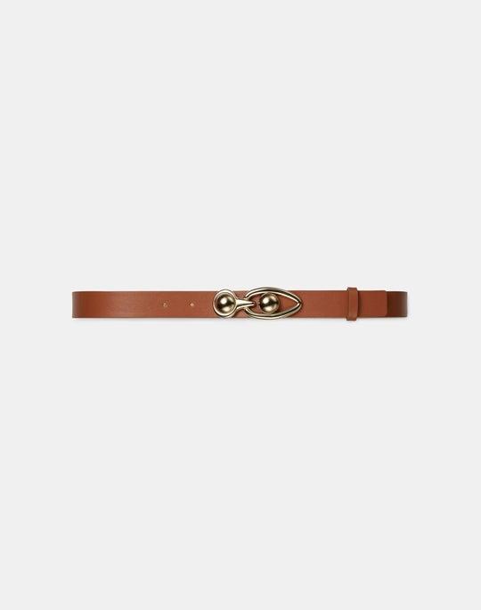 Helix Italian Skinny Leather Belt