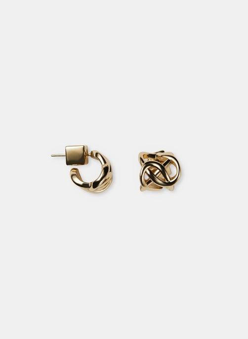 8 Knot Huggie Earring