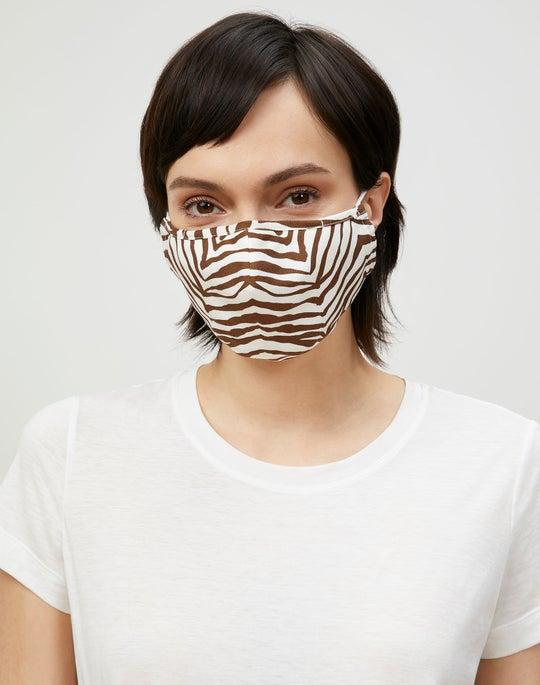 Mini Zevron Print Silk Mask