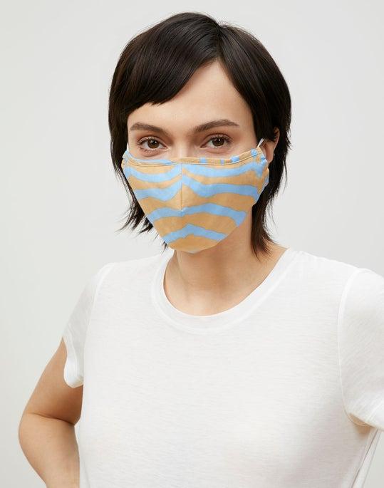 Zevron Print Habotai Mask