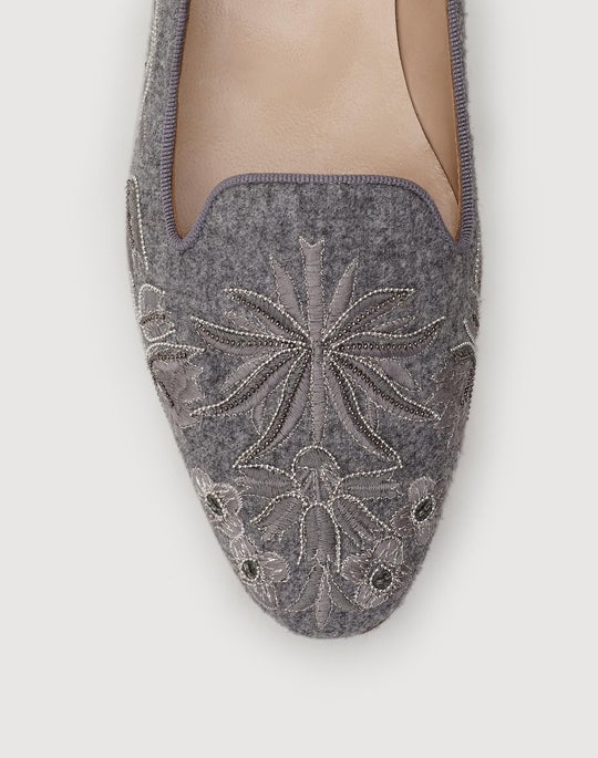 Embellished Flannel Siena Slipper