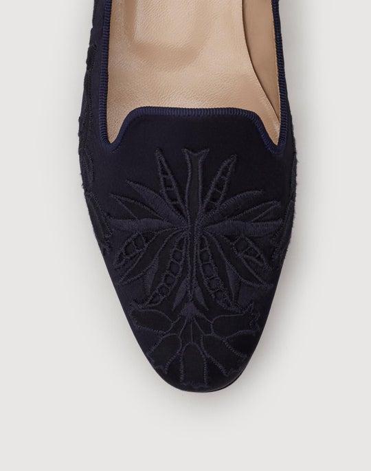 Embellished Satin Siena Slipper