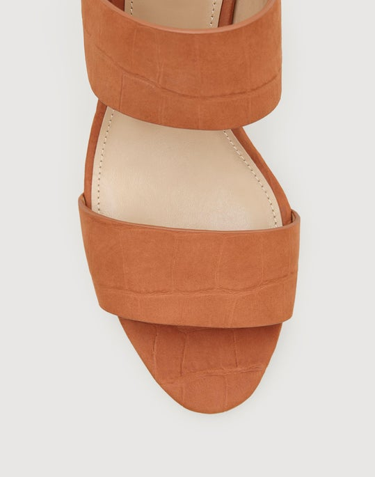 Embossed Suede Caide Sandal