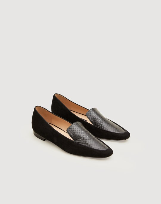 Watersnake And Suede Sotto Loafer