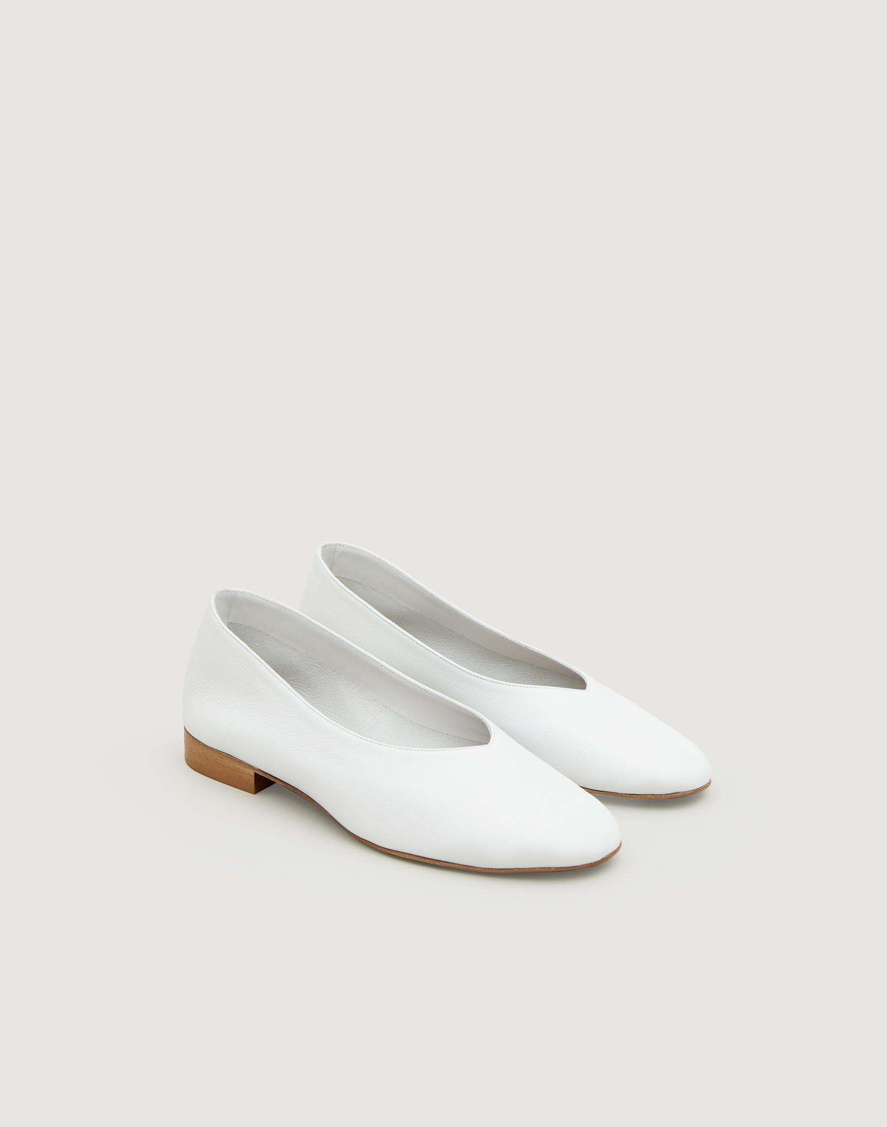 Lafayette 148 Jemma Ballet Flat In White