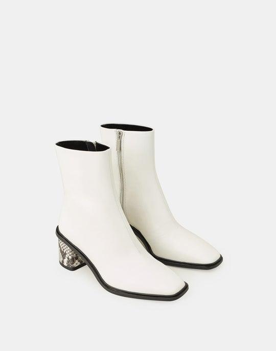 Snake Print Heel Ekkien Boot