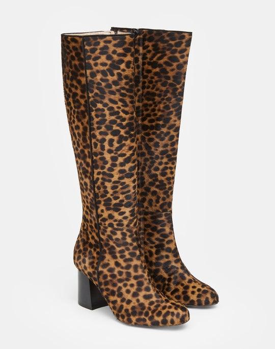 Leopard Print Calf Hair Claremont Boot