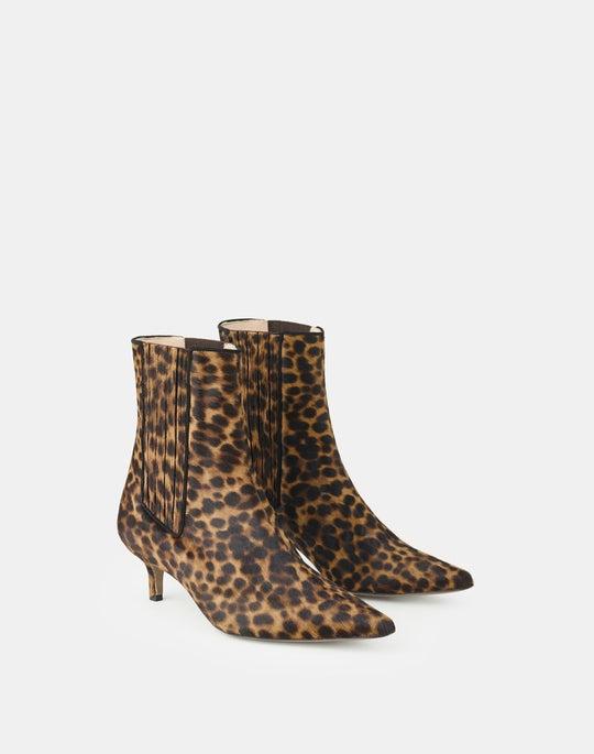 Leopard Print Calf Hair Fiore Bootie