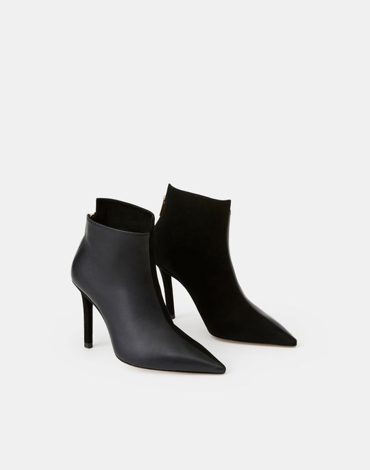 Suede & Leather Rivoli Asymmetric Bootie