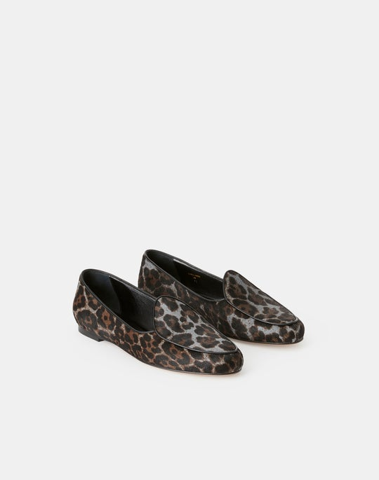 Printed Calf Hair Gigi Belgian Loafer