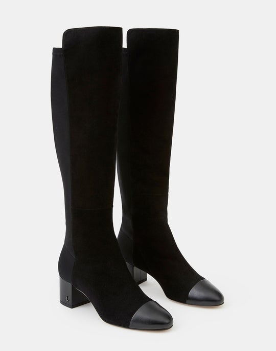 Suede Stretch Emilia Knee-High Boot