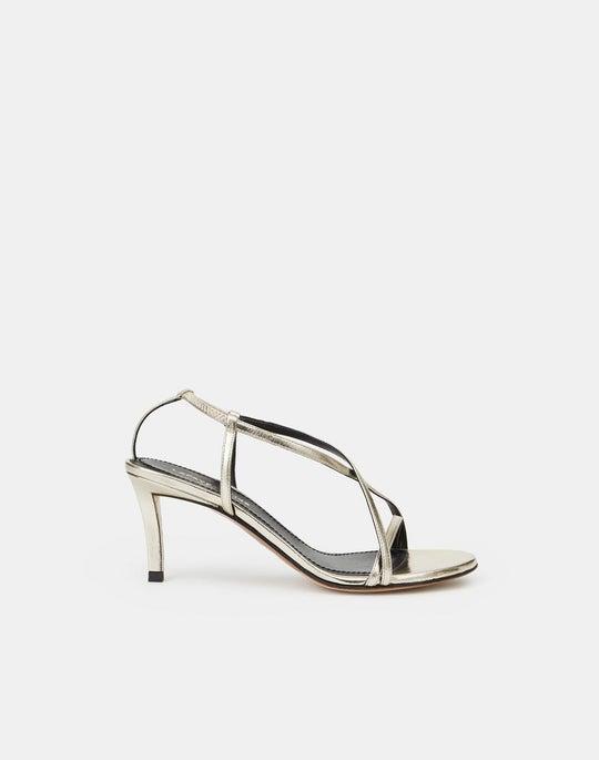 Metallic Leather Macie Heel