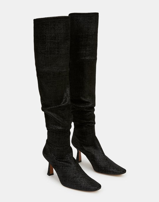 Embossed Metallic Suede Pia Tall Boot