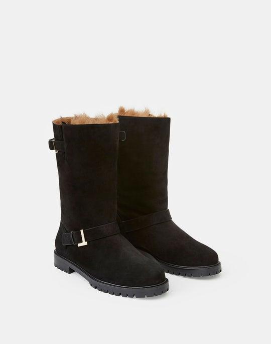 Suede & Shearling Jordan Icon Boot