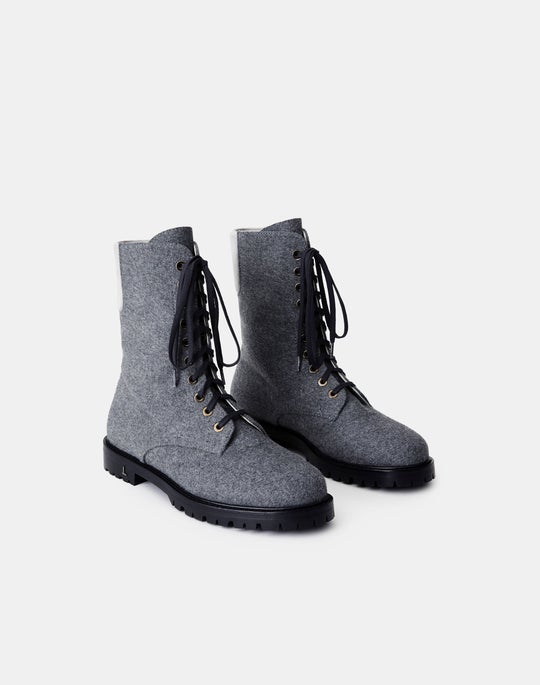 Cashmere-Wool Finley Combat Boot