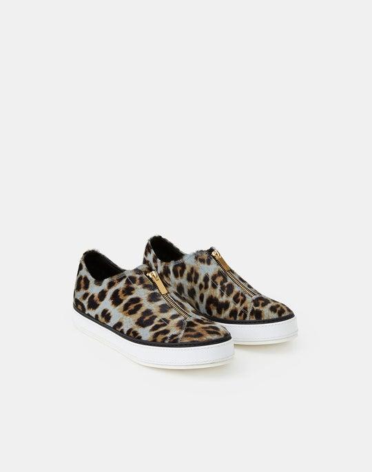 Leopard Print Calf Hair Selby Sneaker