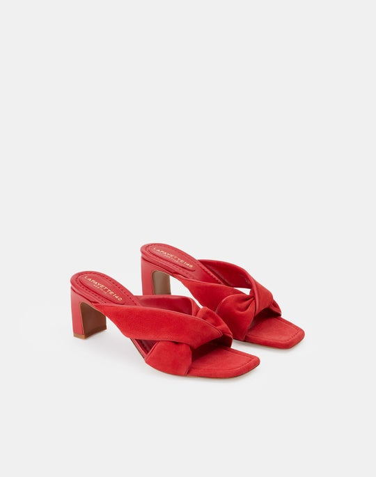 Suede Alaine Twisted Mule