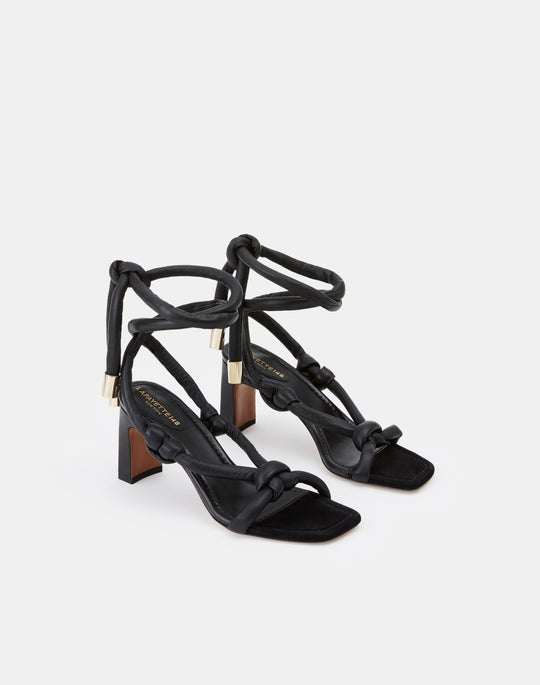 Leather Delphine Ankle Wrap Sandal