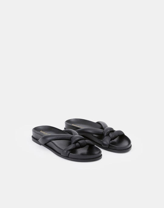 Honore Flat Sandal In Nappa Leather