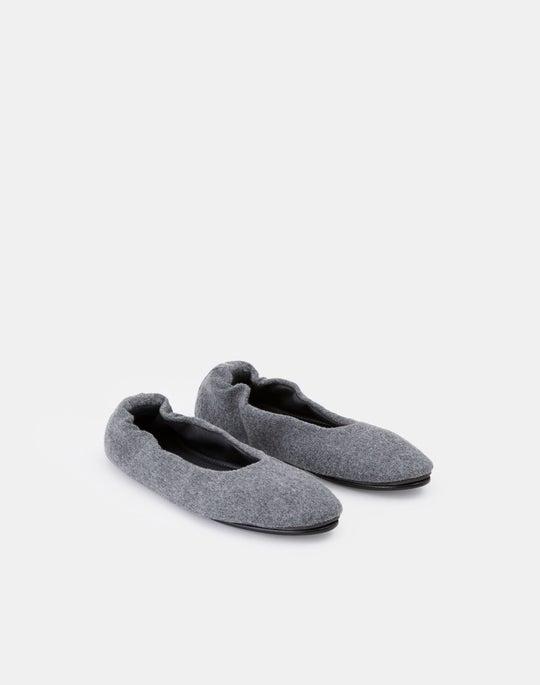 Italian Wool-Cashmere Mira Ballet Flat