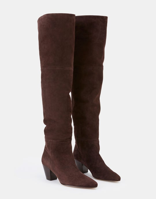 Suede Lucille Tall Icon Boot