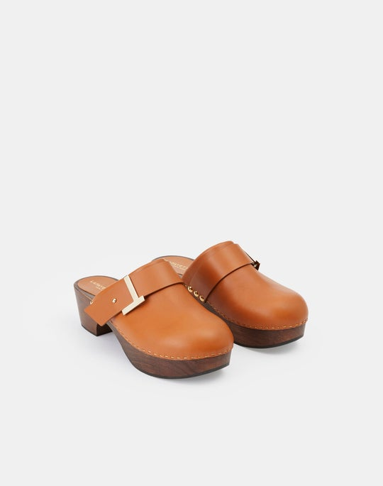 Nappa Leather Aria Icon Clog