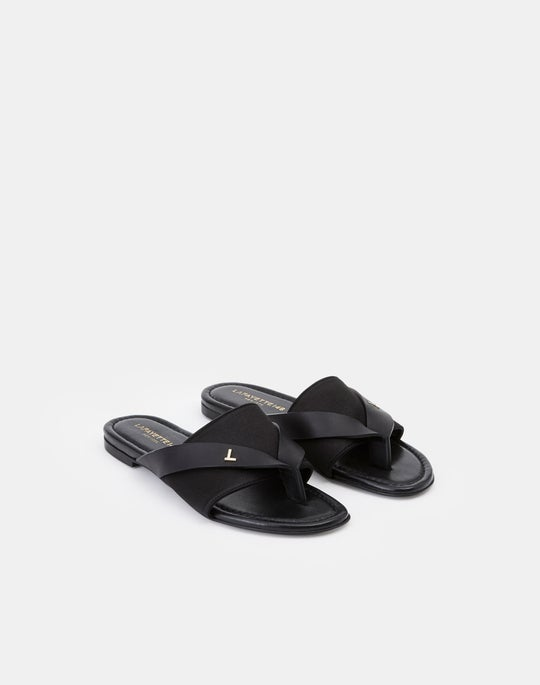 Satin Iris Icon Sandal