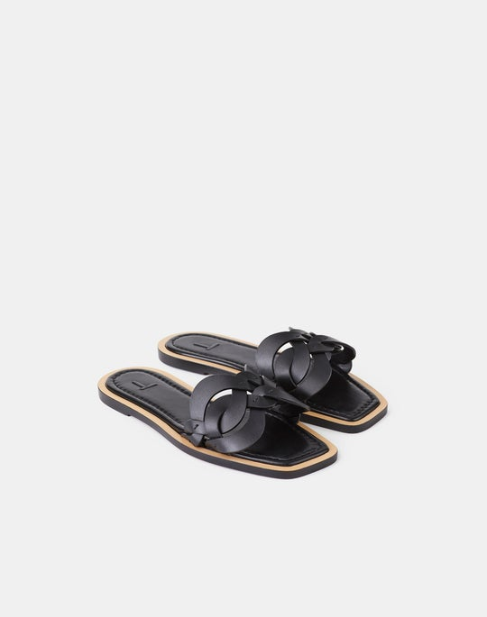 Ines 8 Knot Sandal In Leather