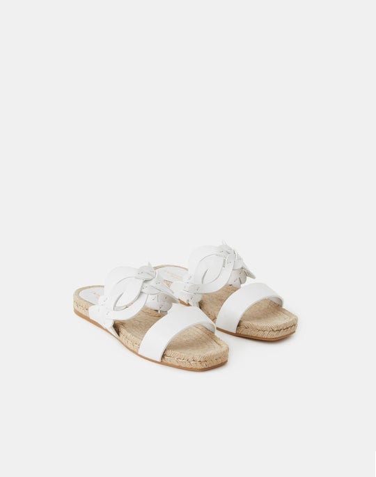 Ondine 8 Knot Espadrille Slide In Leather