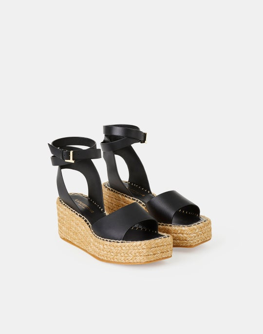 Margot Espadrille Wedge In Nappa Leather