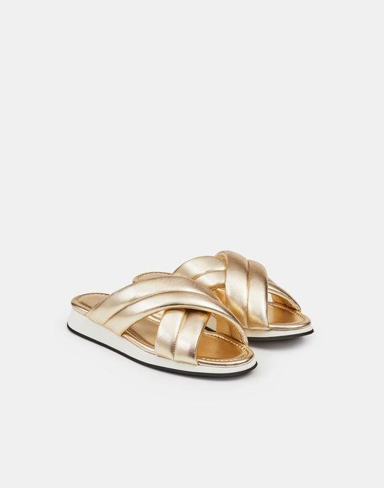 Perle Sandal In Metallic Nappa Leather