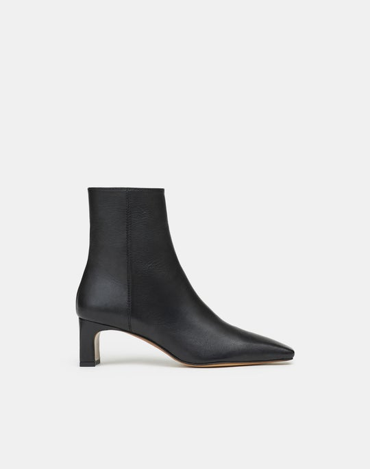 Adara Heeled Bootie In Italian Nappa Leather
