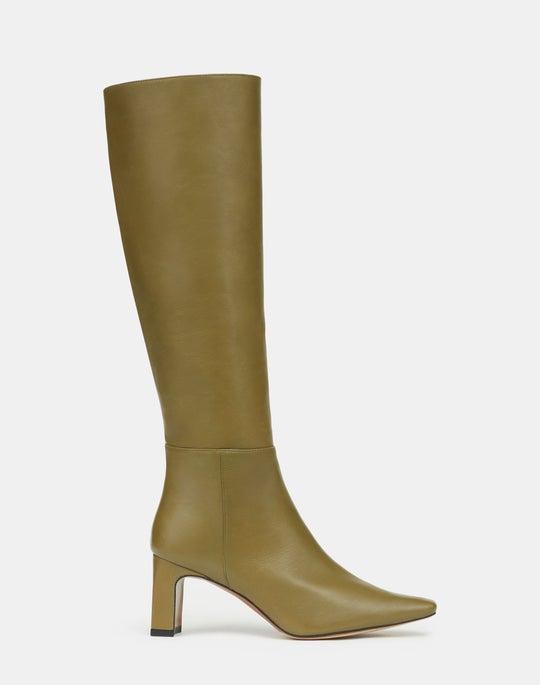 Adley Heeled Boot In Italian Nappa Leather