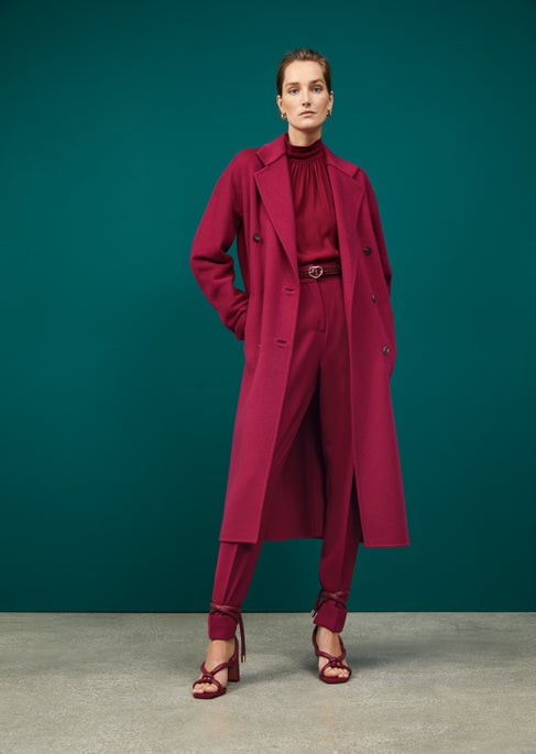 Jasper Coat and Ellis Pleated Pant Outfit