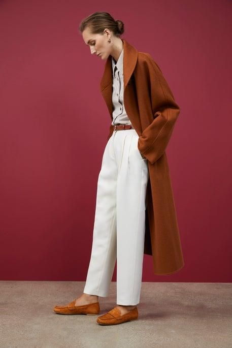 Brushed Cashmere Yara Coat and Ellis Pant