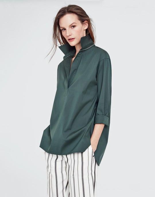 Petite Italian Stretch Cotton Beckett Shirt