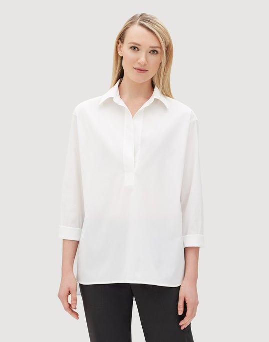 Petite Italian Stretch Cotton Beckett Shirt